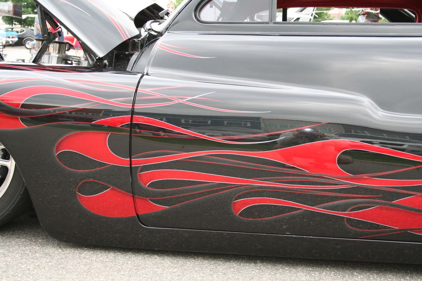 Mercury Lead Sled Black With Flames Only Cars And Cars