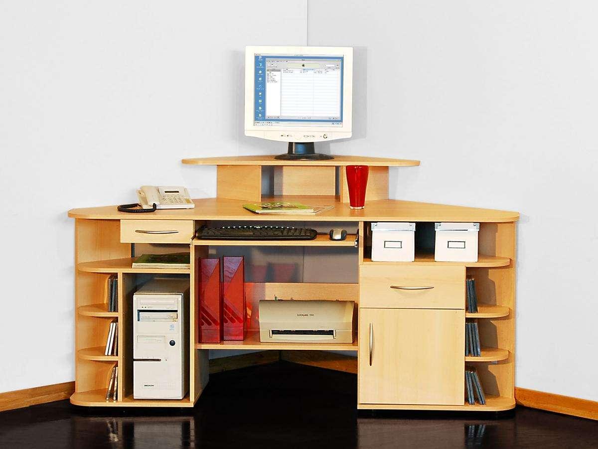 eck schreibtisch buche eckschreibtisch computertisch eckl sung tisch g nstiger ebay. Black Bedroom Furniture Sets. Home Design Ideas